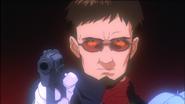 Gendo threatening Ritsuko (EoE)