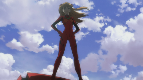 Asuka on Unit-02 (Rebuild)