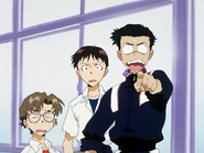 Shinji with Toji and Kensuke (NGE)
