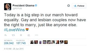 Obamatwittersamesexmarriage