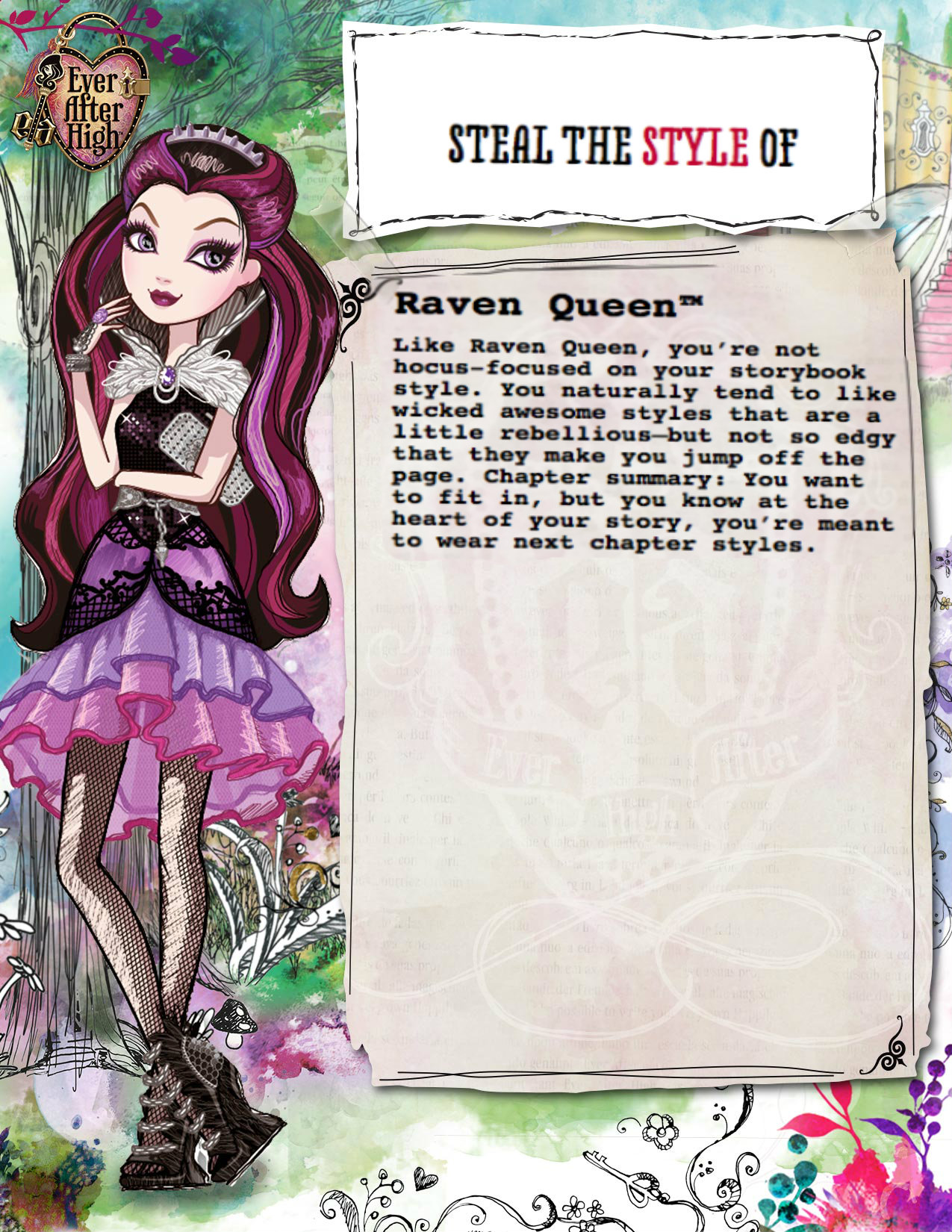 image whose fairytale style should you steal raven