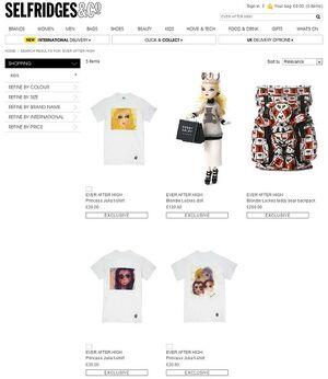 Website - Selfridges exclusive items