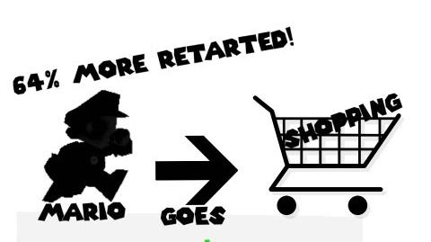 Retarted64 Mario goes shopping