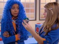 Katie seeing her blue hair