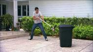 Daniel opening trash can 408
