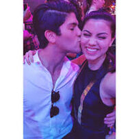Raola kissing at KCA