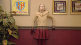 Sophie in camoflauge
