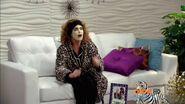 Ursula with facial mask