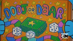 The Dodj or Daar Boardgame