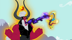 Discord's magic getting sucked away by Tirek S4E26