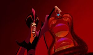 Jafar with his Hourglass