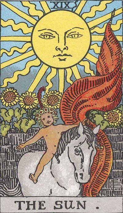 RWS Tarot 19 Sun