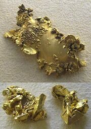 Native gold nuggets