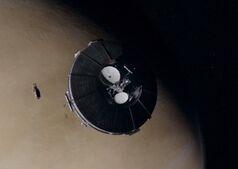 Arboghast with shadow MCRN over Venus