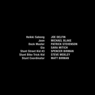 Credits showing