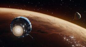 Epstein's yacht over Mars
