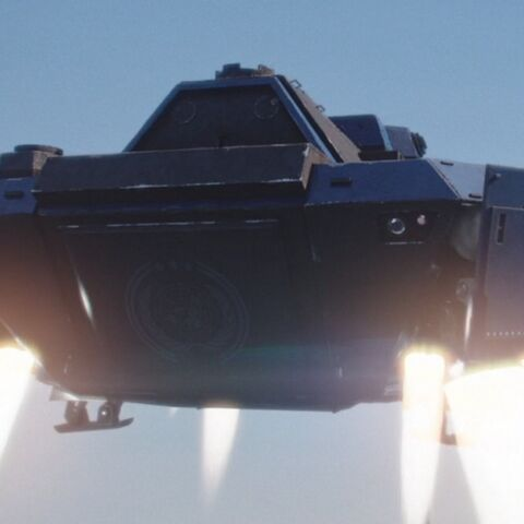 UN dropship ascending to vessel in orbit