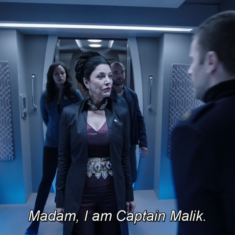 Subtitles spell the name differently than the episode recap on the Syfy website
