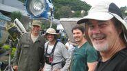 Expendables set photo- Henry Kingi, Chris Palermo, Stanimir Stamatov & Andy Gill