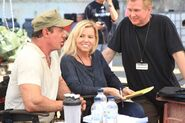 EX3- Sylvester Stallone with Katrin Benedickt and Creighton Rothenberger on-set