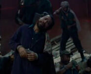 Expendables 1 Pirate hostage played by stunt performer courtyard guy