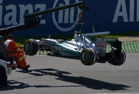 Nico Rosberg 2012 Canada lifted up