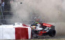 Lewis Hamilton 2007 Accident