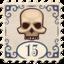 Stamp Rich or Die Skull