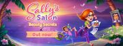 Sally's Salon Out Now Banner