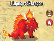 Flaming rock dragon lv4-6