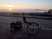 Airbike Pickup Sonnenaufgang