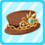 SSG Steampunk Chain Hat brown