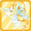 HF Jadeite White Butterfly Hairpiece