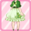 FFG Short Sleeved Sakura Poncho green
