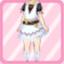 LE Fringe Dress white
