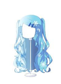 HAIR FlowingTwin-UpCrystalSnowHorizon