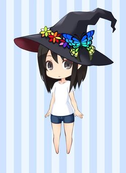 FDLB Rainbow Butterfly Witch Hat preview