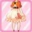 FFG Short Sleeved Sakura Poncho orange