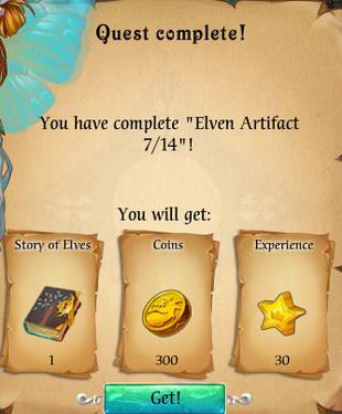 Fairy Kingdom --Elven Magic 7 of 14 reward