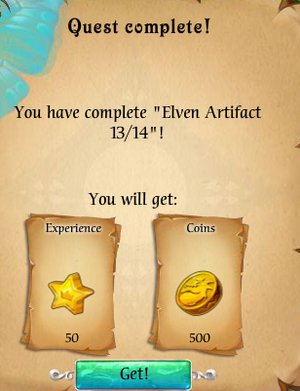 Fairy Kingdom --Elven Magic 13 of 14 reward