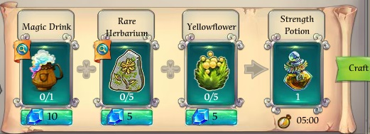 Fairy Kingdom -- Strength Potion recipe
