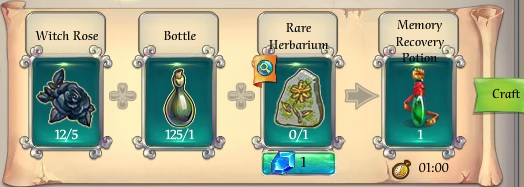 Fairy Kingdom -- Memory Recovery Potion recipe