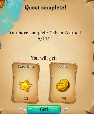 Fairy Kingdom --Elven Magic 5 of 14 reward