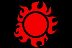 Sonnen Flagge