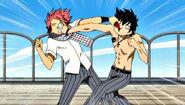 Natsu and Gray fight at school