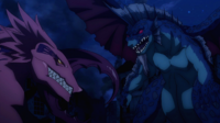 Dragons after colliding