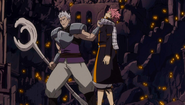 Byro holding Natsu