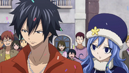 Juvia showing worry for Gray