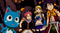Natsu, Lucy, Romeo and Happy