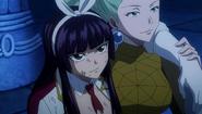 Kagura watches Fairy Tail's victory